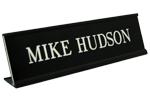 Plate with Black Desk Holder